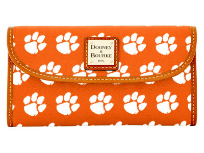 Clemson Tigers Dooney & Bourke Continental Clutch