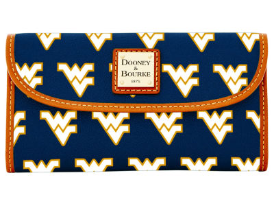 West Virginia Mountaineers Dooney & Bourke Continental Clutch