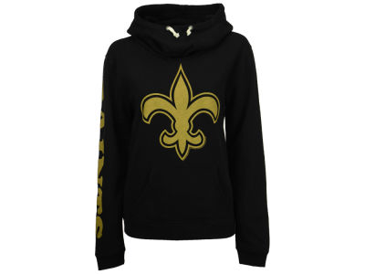 New Orleans Saints Junk Food NFL Women's Logo Funnel Hoodie