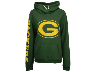 Green Bay Packers Junk Food NFL Women's Logo Funnel Hoodie