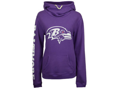Baltimore Ravens Junk Food NFL Women's Logo Funnel Hoodie