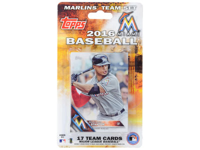 Miami Marlins Team Card Set 2016