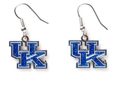 Kentucky Wildcats Glitter Dangle Earrings Aminco