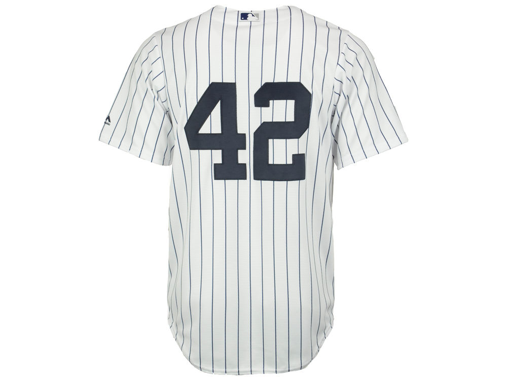 New York Yankees Jackie Robinson Majestic MLB Men s Player Replica Cool  Base Jersey  82ad036e4db