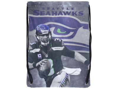 Seattle Seahawks Russell Wilson Player Printed Drawstring Bag