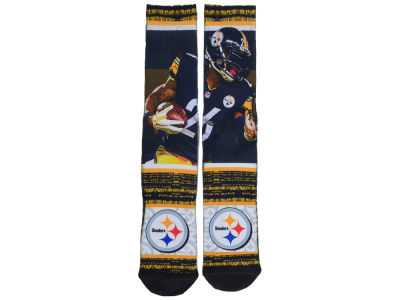 Pittsburgh Steelers Leveon Bell NFL Rush Player Jersey Crew Socks