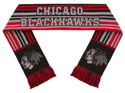 Chicago Blackhawks Glitter Stripe Scarf
