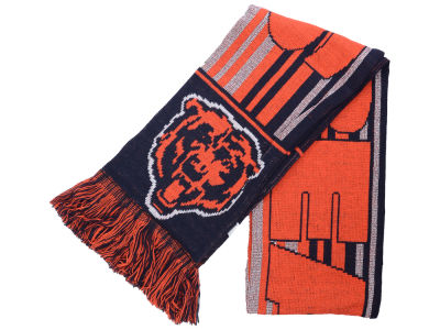 Chicago Bears Glitter Stripe Scarf