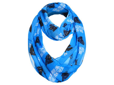 Carolina Panthers For Bare Feet All Over Logo Infinity Wrap Scarf