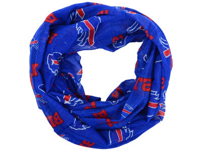 Buffalo Bills All Over Logo Infinity Wrap Scarf