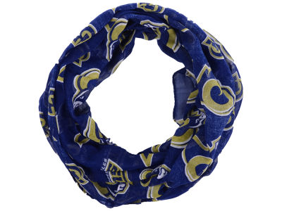 Los Angeles Rams All Over Logo Infinity Wrap Scarf