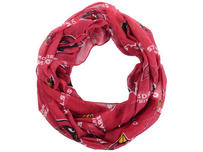 Arizona Cardinals All Over Logo Infinity Wrap Scarf