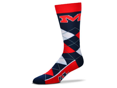 Ole Miss Rebels Argyle Dress Socks