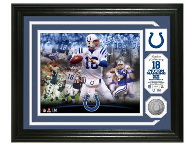 "Indianapolis Colts Peyton Manning Peyton Manning ""Colts Career"" Silver Coin Photo"