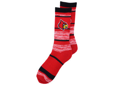 Louisville Cardinals For Bare Feet RMC Stripe Socks