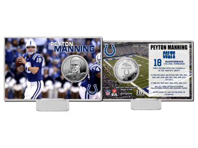 "Indianapolis Colts Peyton Manning Peyton Manning ""Colts Career"" Silver Coin Card"