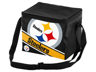 Pittsburgh Steelers 6-pack Big Logo Stripe Lunch Cooler