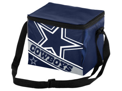 Dallas Cowboys 6-pack Big Logo Stripe Lunch Cooler
