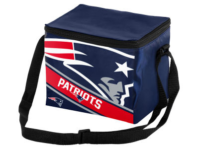 New England Patriots 6-pack Big Logo Stripe Lunch Cooler