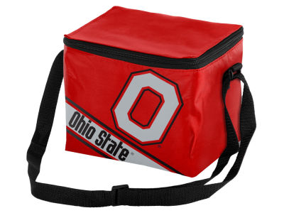 Ohio State Buckeyes 6-pack Big Logo Stripe Lunch Cooler