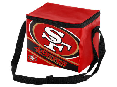 San Francisco 49ers 6-pack Big Logo Stripe Lunch Cooler