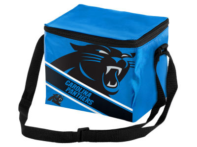 Carolina Panthers 6-pack Big Logo Stripe Lunch Cooler