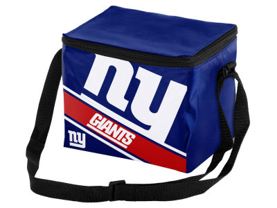New York Giants 6-pack Big Logo Stripe Lunch Cooler