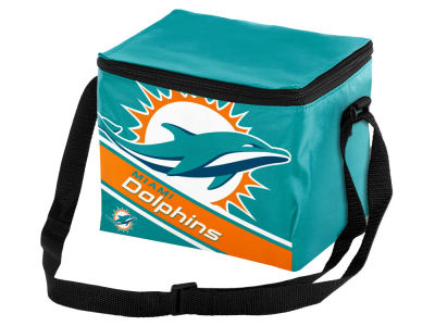 Miami Dolphins 6-pack Big Logo Stripe Lunch Cooler