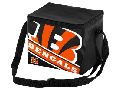 Cincinnati Bengals 6-pack Big Logo Stripe Lunch Cooler