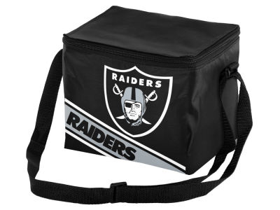 Oakland Raiders 6-pack Big Logo Stripe Lunch Cooler