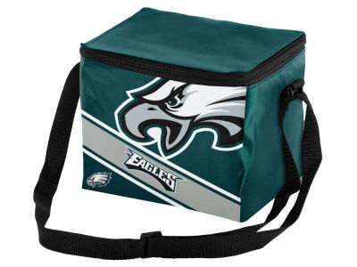 Philadelphia Eagles 6-pack Big Logo Stripe Lunch Cooler