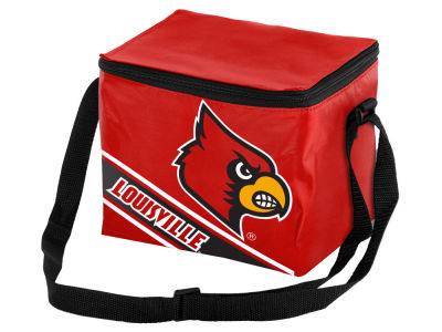 Louisville Cardinals 6-pack Big Logo Stripe Lunch Cooler