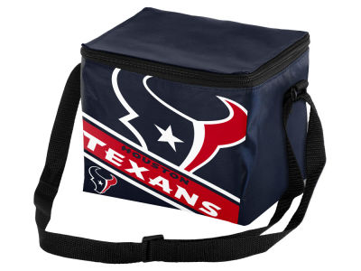 Houston Texans 6-pack Big Logo Stripe Lunch Cooler