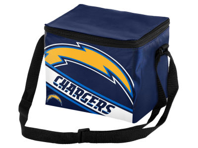 Los Angeles Chargers 6-pack Big Logo Stripe Lunch Cooler