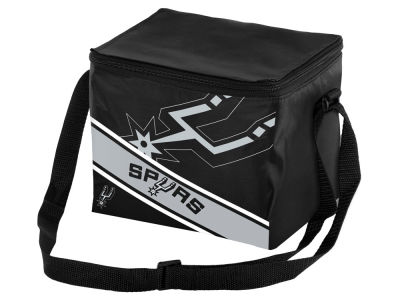 San Antonio Spurs 6-pack Big Logo Stripe Lunch Cooler
