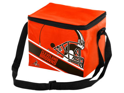 Cleveland Browns 6-pack Big Logo Stripe Lunch Cooler