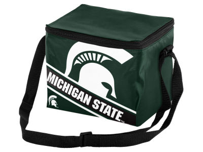 Michigan State Spartans 6-pack Big Logo Stripe Lunch Cooler