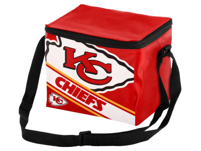 Kansas City Chiefs 6-pack Big Logo Stripe Lunch Cooler