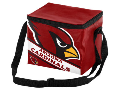 Arizona Cardinals 6-pack Big Logo Stripe Lunch Cooler