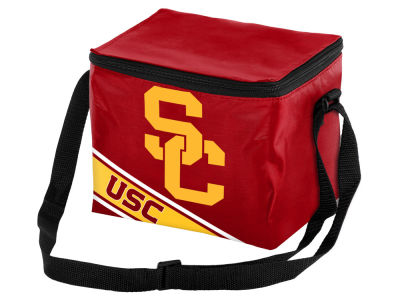 USC Trojans 6-pack Big Logo Stripe Lunch Cooler