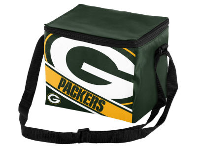 Green Bay Packers 6-pack Big Logo Stripe Lunch Cooler