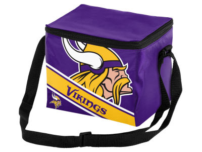 Minnesota Vikings 6-pack Big Logo Stripe Lunch Cooler