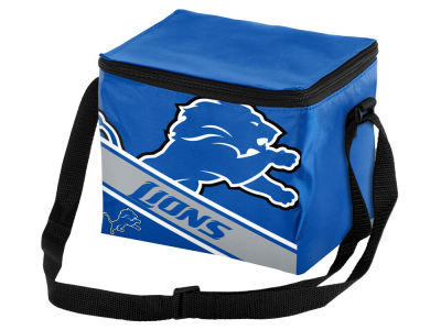 Detroit Lions 6-pack Big Logo Stripe Lunch Cooler