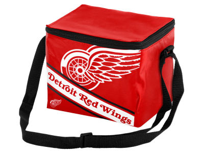 Detroit Red Wings 6-pack Big Logo Stripe Lunch Cooler