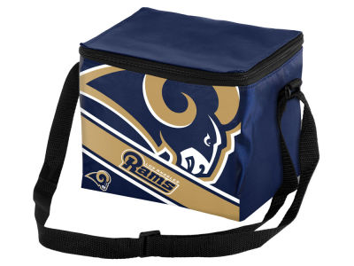 Los Angeles Rams 6-pack Big Logo Stripe Lunch Cooler