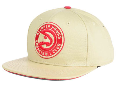 Atlanta Hawks Pro Standard NBA Cream Leather Strapback Cap