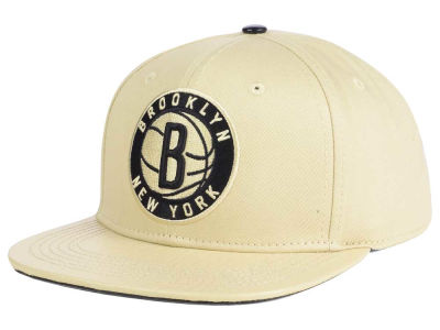 Brooklyn Nets Pro Standard NBA Cream Leather Strapback Cap