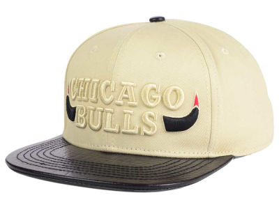 Chicago Bulls Pro Standard NBA Cream Leather Strapback Cap