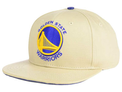 Golden State Warriors Pro Standard NBA Cream Leather Strapback Cap