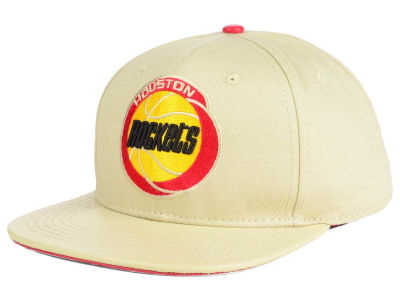 Houston Rockets Pro Standard NBA Cream Leather Strapback Cap